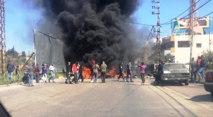 قطع السير عند تقاطع جامع الامين وسط بيروت وعلى طريق الضنية طرابلس