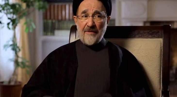 الرئيس الإيراني السابق حذر من احتمال وقوع حرب في المنطقة