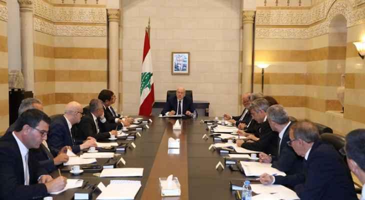 الجمهورية: اجتماع لمجلس الوزراء عصر الاربعاء بجدول أعمال حافل
