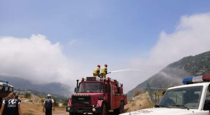 """جمعية """"حماية جبل موسى"""" نظمت مناورة لإطفاء حرائق الغابات"""