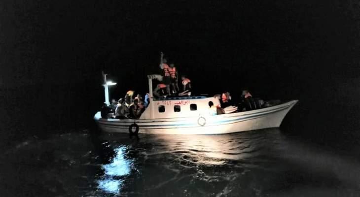 الجيش: اعتراض مركب على متنه 41 شخصا أثناء محاولته المغادرة بطريقة غير شرعية