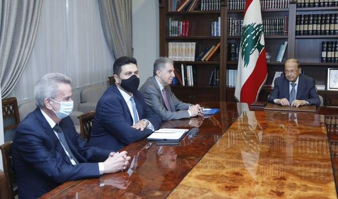 الرئيس عون يبحث موضوع دعم المحروقات مع وزني وغجر وسلامة