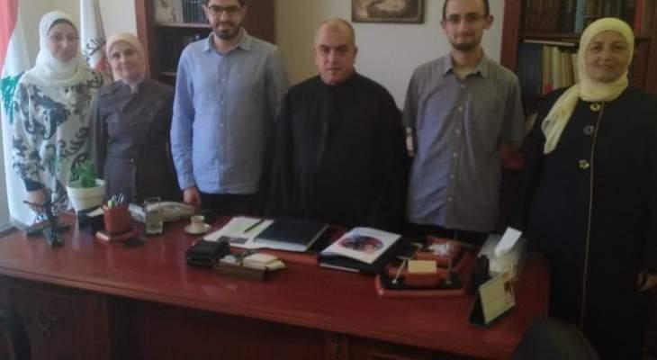 أبو كسم استقبل وفداً من التجمع اللبناني للحفاظ على الأسرة