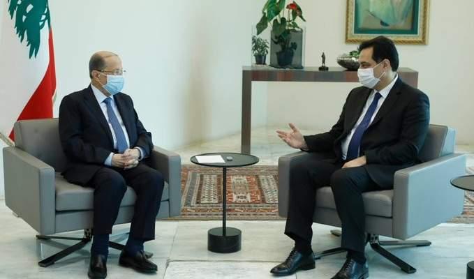 الرئيس عون يلتقي رئيس الحكومة قبيل جلسة مجلس الوزراء