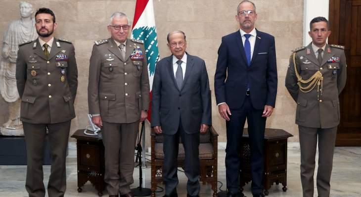 الرئيس عون بحث العلاقات بين الاتحاد الأوروبي ولبنان خلال لقائه رئيس اللجنة العسكرية للإتحاد