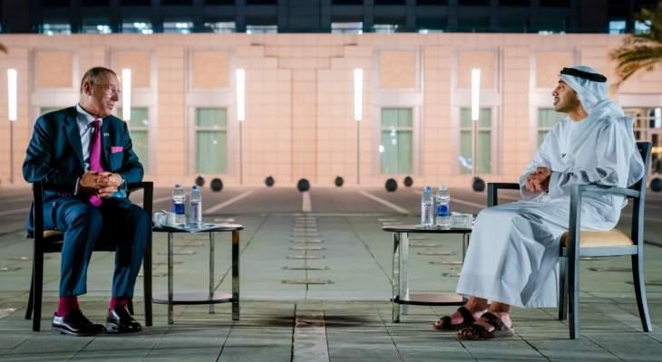 وزير خارجية الإمارات والمبعوث الإسرائيلي للخليج بحثا بسبل تعزيز التعاون المشترك