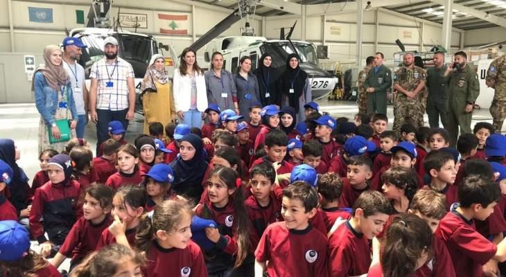 """الصفدي زارت مقر قيادة """"اليونيفيل"""" بالناقورة والتقت أطفال مدرسة عيتا الشعب"""