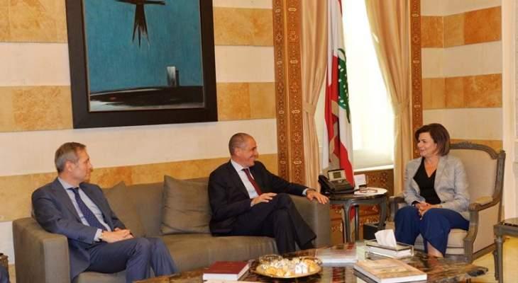 الحسن بحثت في أزمة النزوح مع سفير الاتحاد الأوروبي والتقت مدير الاونروا ونوابا