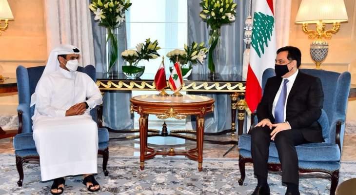 رئيس حكومة تصريف الأعمال التقى وزير الطاقة القطري في الدوحة