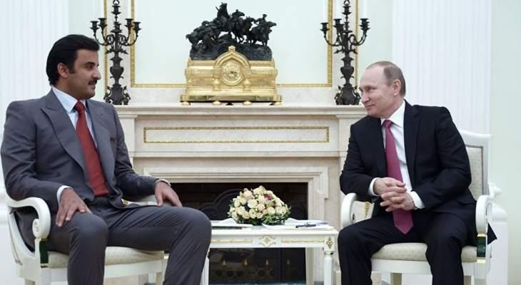 بوتين يلتقي بن حمد: قطر شريك مهم وموثوق في المنطقة