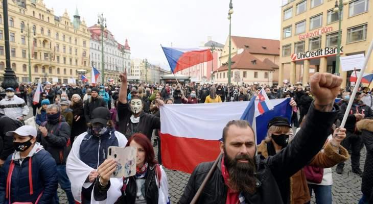 """المئات تظاهروا في التشيك ضد إجراءات الحكومة بشأن """"كورونا"""""""