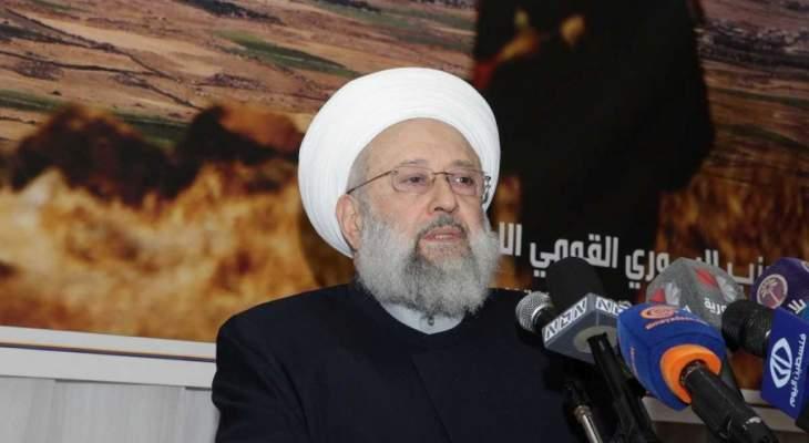 الشيخ حمود: مشروع اعادة الفاخوري الى لبنان وترتيب ملفاته هو مشروع جبران باسيل