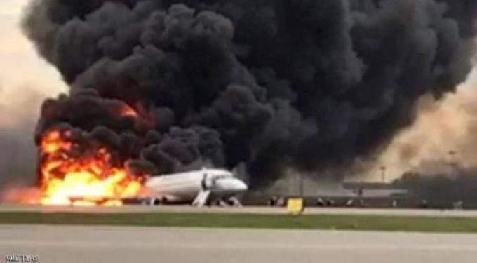 التلفزيون الإيراني: اشتعال النيران في طائرة كانت تنفذ رحلة داخلية