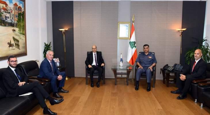 اللواء عثمان استقبل رئيس مجلس إدارة صباح أخوان وملحق الأمن الداخلي لدى سفارة فرنسا