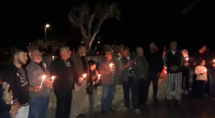 النشرة: وقفة تضامنية على مثلث ديردغيا مع الضحيتين شلهوب  والجندي