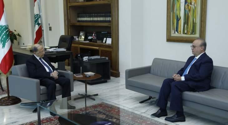 وهاب بعد لقائه عون: الأجواء إيجابية والحكومة مسهلة وطالبنا برفع العدد إلى 20 وزيرا