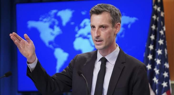 الخارجية الاميركية: نراقب عن كثب الوضع في لبنان وندعم دعوات الشعب للمساءلة