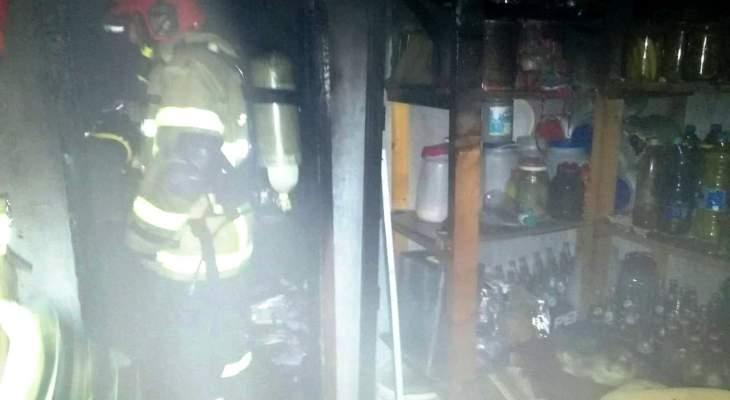 إخماد حريق مشغلات أجهزة تدفئة وأسلاك كهربائية ببدادون وآخر شب بغرفة مستودع في كيفون