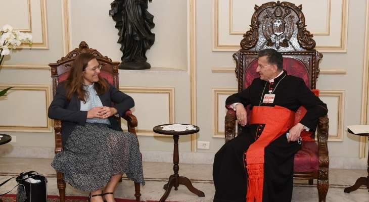 الراعي بحث مع سفيرة كندا في لبنان الأوضاع العامة على الساحتين المحلية والاقليمية