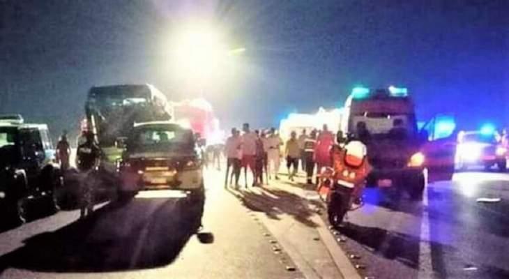 مقتل 12 شخصا في حادث سير في مصر