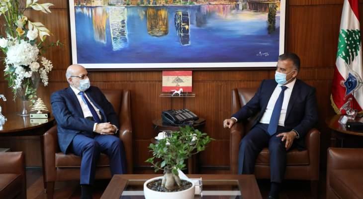 اللواء ابراهيم بحث مع الأمين العام للمجلس الأعلى اللبناني السوري ملف النازحين