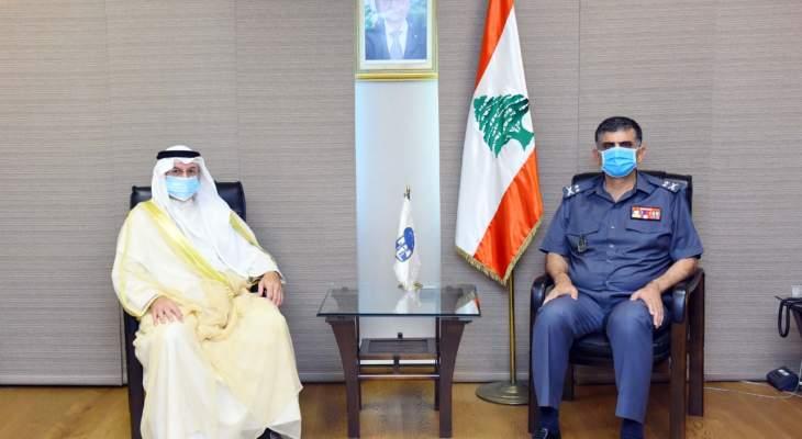 اللواء عثمان بحث مع سفير دولة الكويت في لبنان الاوضاع العامة في البلاد