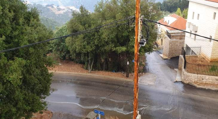 """مدير العمليات بالدفاع المدني دعا المواطنين عبر """"النشرة"""" لتوخي الحذر بسبب الأمطار بوسط وأعالي كسروان"""