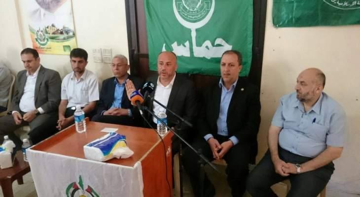 وفد من حركة حماس يزور رئيس فرع مخابرات الجيش في الجنوب
