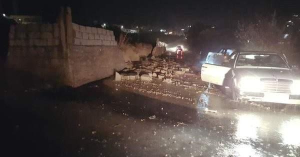 رئيس بلدية مجدل عنجر يناشد المعنيين بالمساعدة لازالة السيول