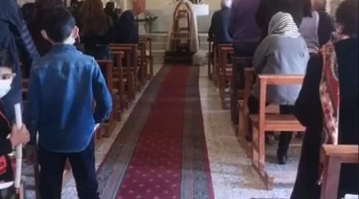 النشرة: قداس في كنيسة التجلي للروم الكاثوليك في راشيا الفخار بمناسبة أحد الشعانين