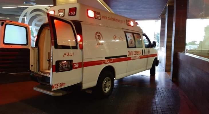 جريحان جراء حادث سير على طريق المصنع الدولية في مجدل عنجر