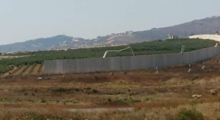 النشرة: الجيش الإسرائيلي بدأ بصب الإسمنت في المنطقة الواقعة في تلال العديسة