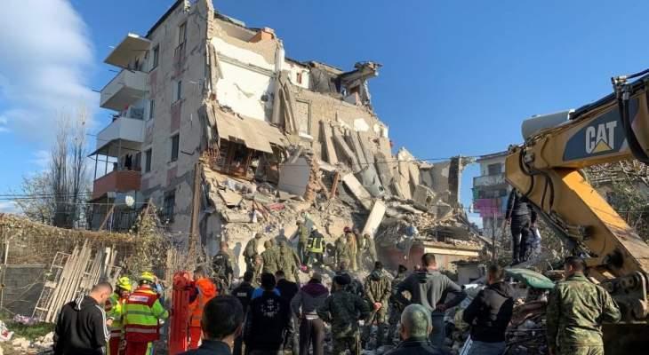 ارتفاع حصيلة ضحايا زلزال ألبانيا إلى 49 قتيلا وألفي جريح