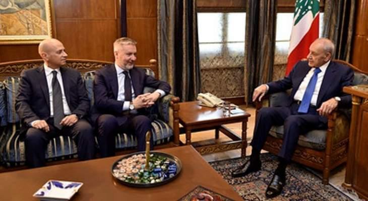 بري التقى وزير الدفاع الايطالي وعرض معه العلاقات الثنائية