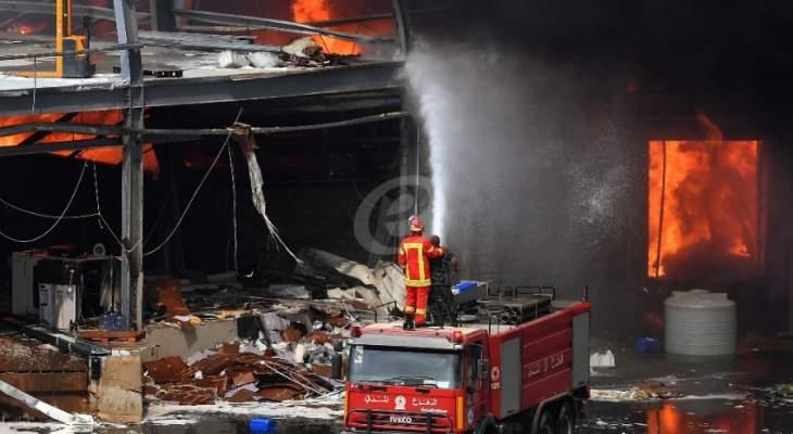 """مصادر أمنية للـ """"lbc"""" استبعدت أن يكون حريق المرفأ ناتج عن عمل مدبر"""