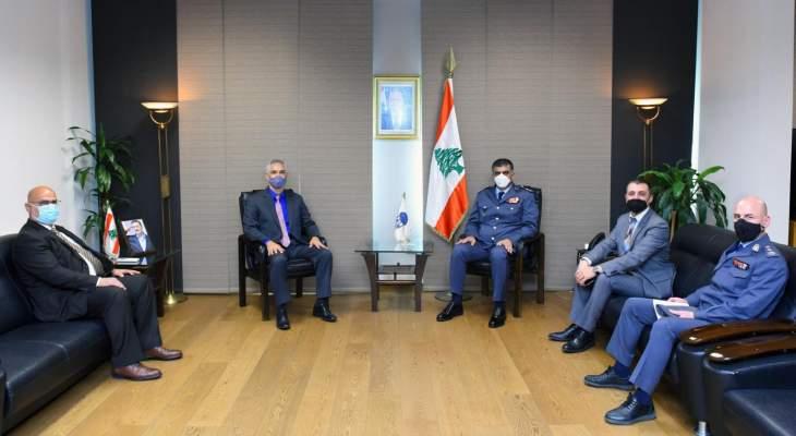 مدير عام قوى الأمن استقبل ضابط الارتباط لدى السفارة الأميركية في بيروت