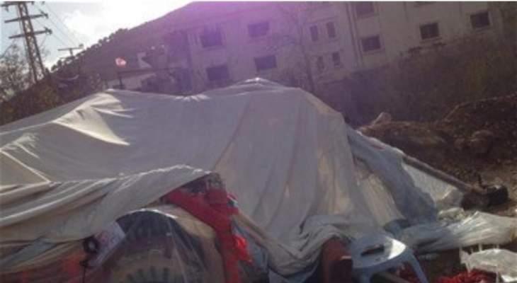 النشرة: مجهولون حطموا خيمة الحراك المدني في سوق الخان في حاصبيا