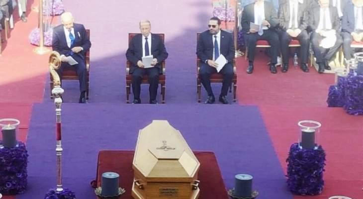 وصول الرئيس عون إلى بكركي للمشاركة في مراسم دفن البطريرك صفير