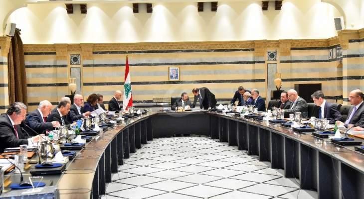 مجلس الوزراء يعقد جلسة غدا لمتابعة درس مشروع موازنة العام 2020