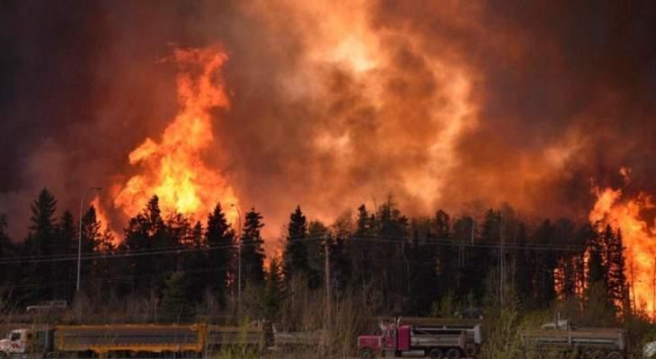 إجلاء أكثر من 10 آلاف شخص غرب كندا بسبب اندلاع عشرات الحرائق