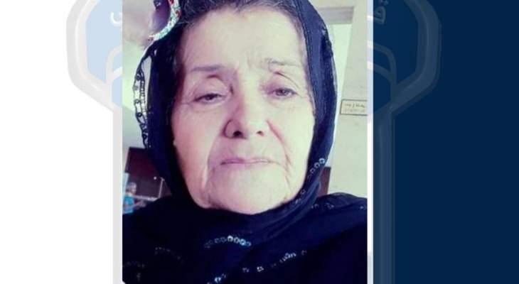 قوى الأمن عممت صورة مسنة مفقودة غادرت مكان إقامتها في برغون بالكورة ولم تعد