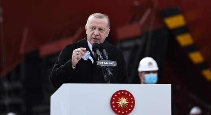 اردوغان: تركيا تحتل مكانا بالصدارة بين الدول المصنعة للمسيّرات والسفن الحربية