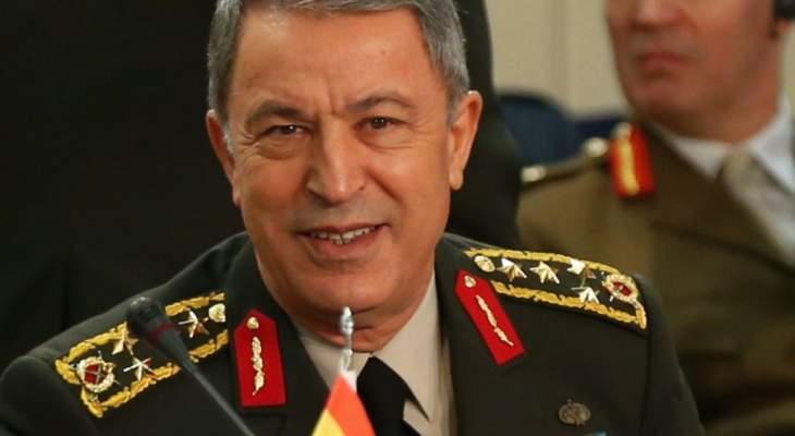 وزير الدفاع التركي أكد استعداد بلاده لاستئناف المحادثات لحل الخلافات مع اليونان