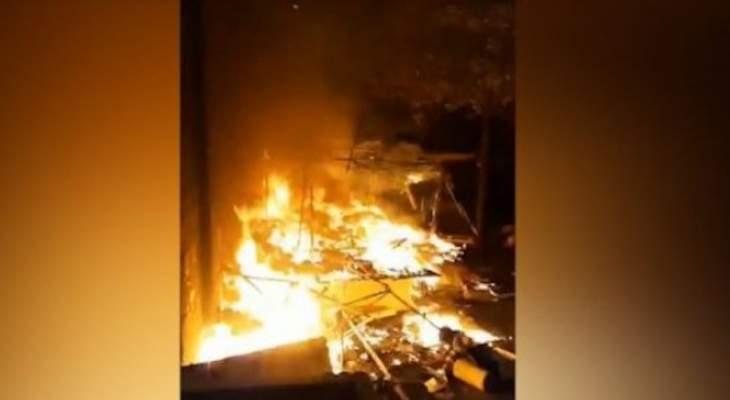 النشرة: وفاة مواطن سبعيني وزوجته بعربصاليم بسبب حريق مدفأة على المازوت