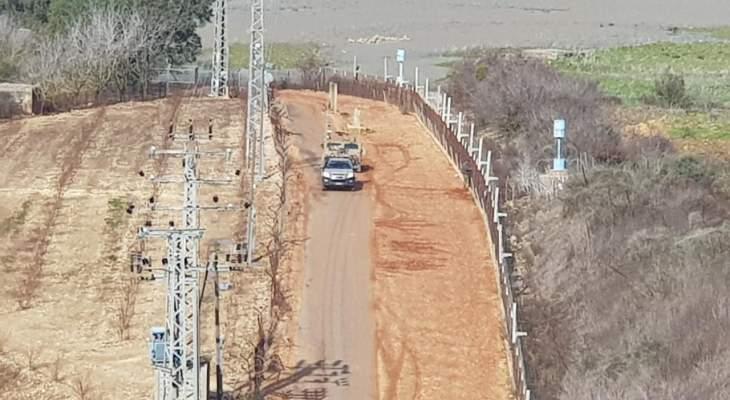 النشرة: ورشة إسرائيلية عملت على صيانة السياج الفاصل بين المطلي وسهل الخيام