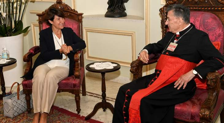 الراعي بحث مع سفيرة فرنسا في لبنان اخر التطورات والاحداث