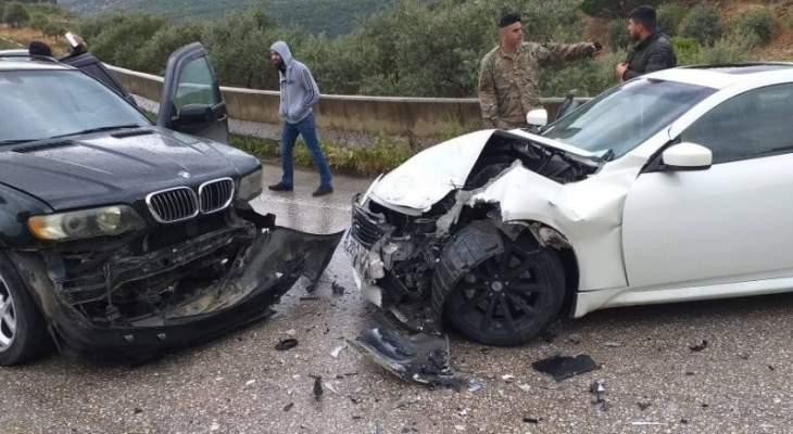 النشرة: سقوط 4 حرجى بحادث سير على طريق عام راشيا الوادي في حاصبيا