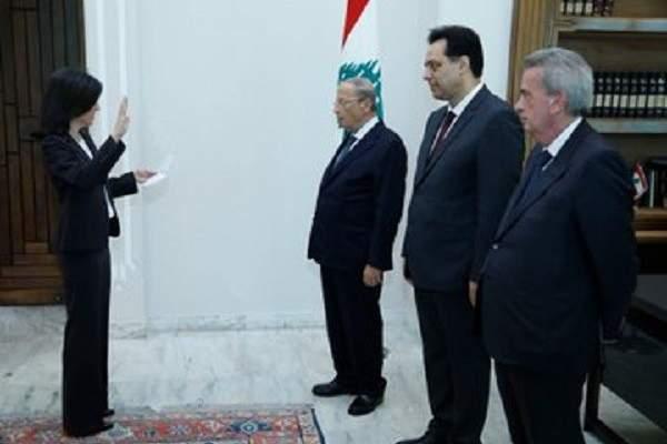 المعيّنون في الادارات العامة والمالية أقسموا اليمين أمام الرئيس عون