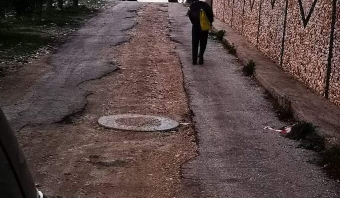 النشرة: الامطار ادت الى احداث حفر في طرقات كفرجوز النبطية