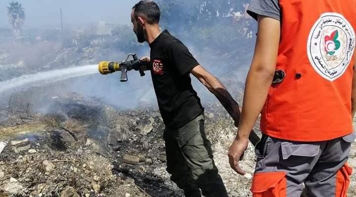 إخماد حريق في منطقة عبرا استمر 7 ساعات وإسعاف 11 مصاباً ميدانياً